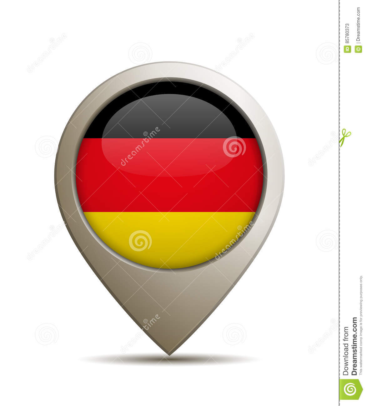 Plaats Pin With German Flag