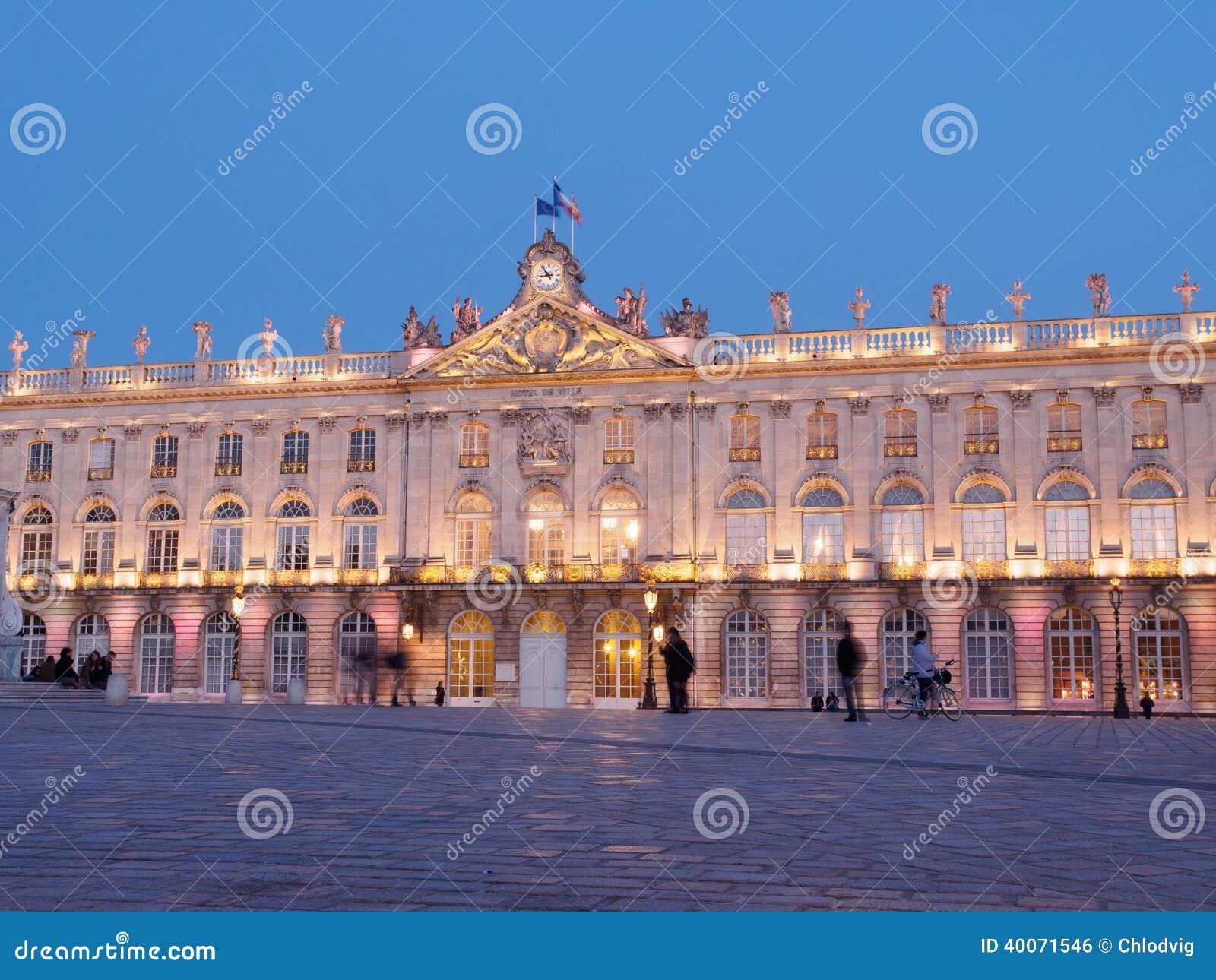 Plaats Stanislas In Nancy, Frankrijk bij Nacht