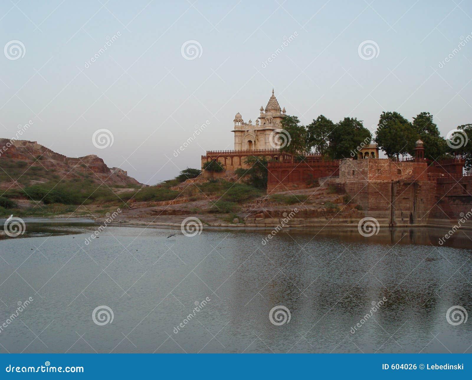Plaats van crematie van de Maharadja