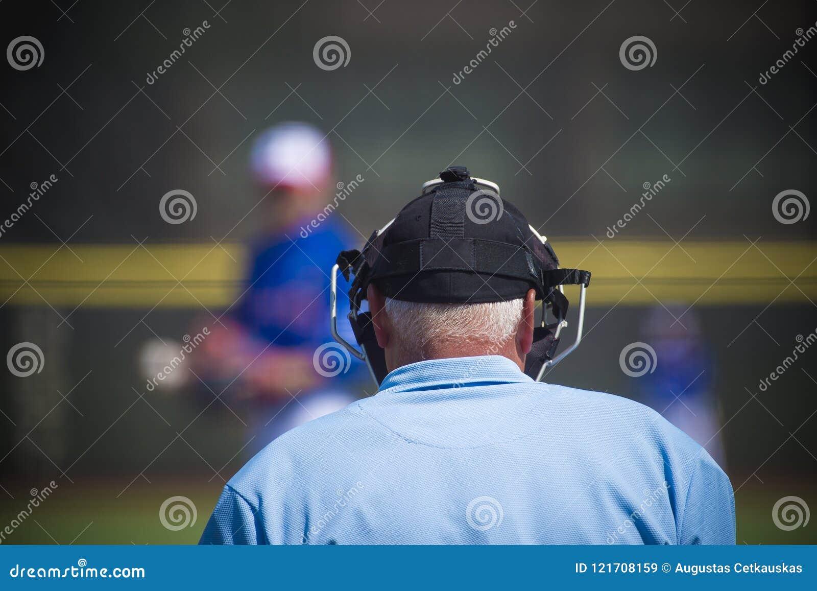 Plaatscheidsrechter op honkbalveld, exemplaarruimte