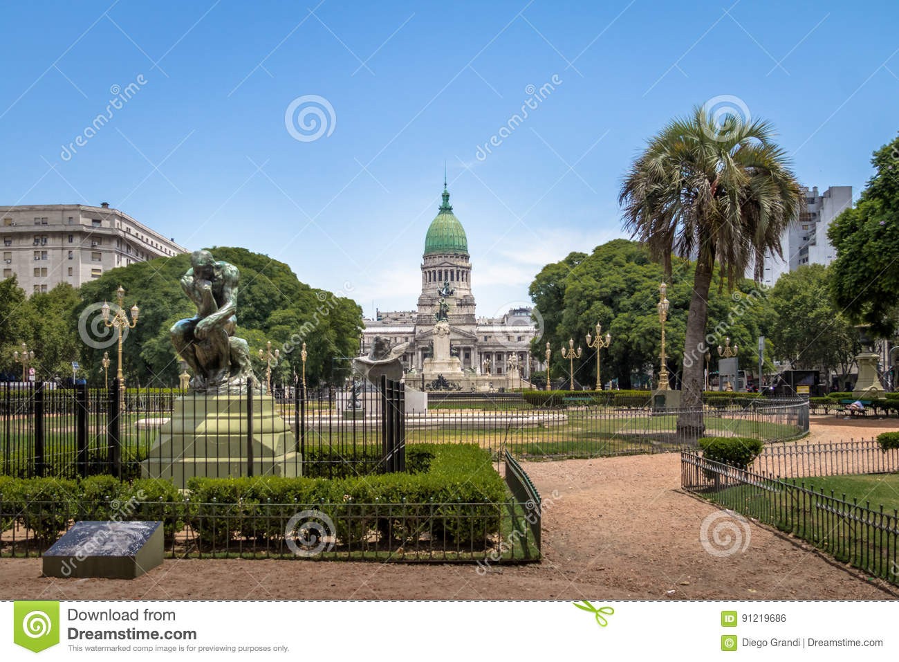 Plac Congreso i kongres narodowy - Buenos Aires, Argentyna