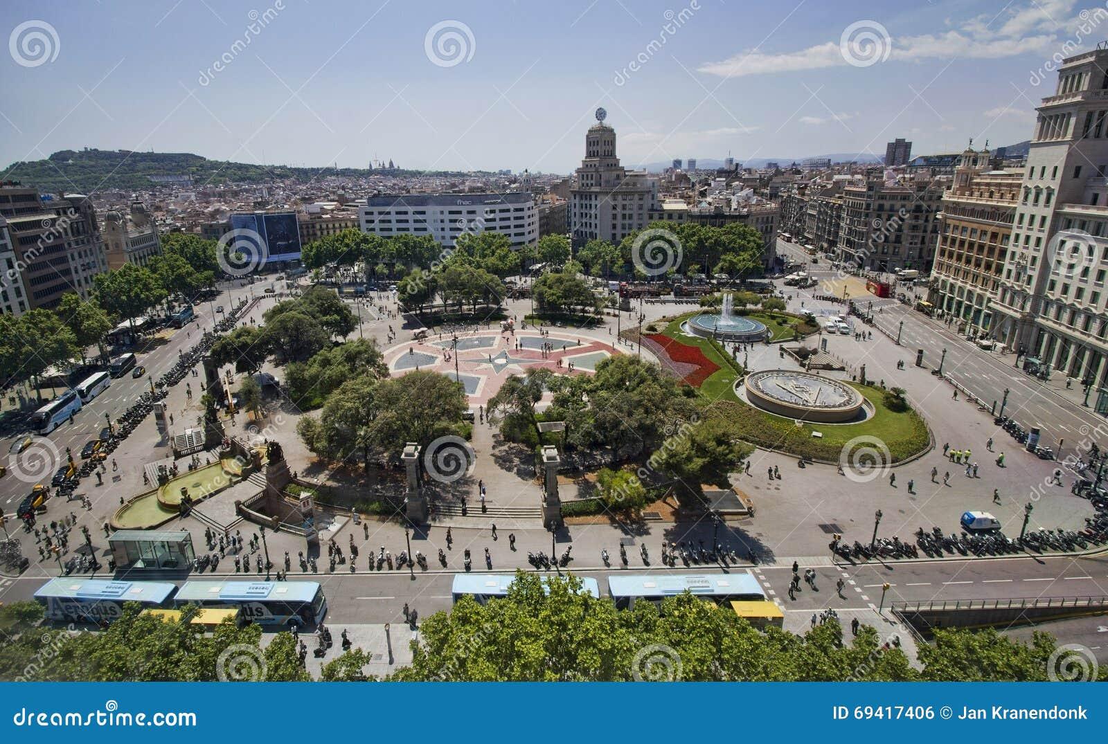 Placa catalunya barcelon editorial photo image of summer - Placa kennedy barcelona ...