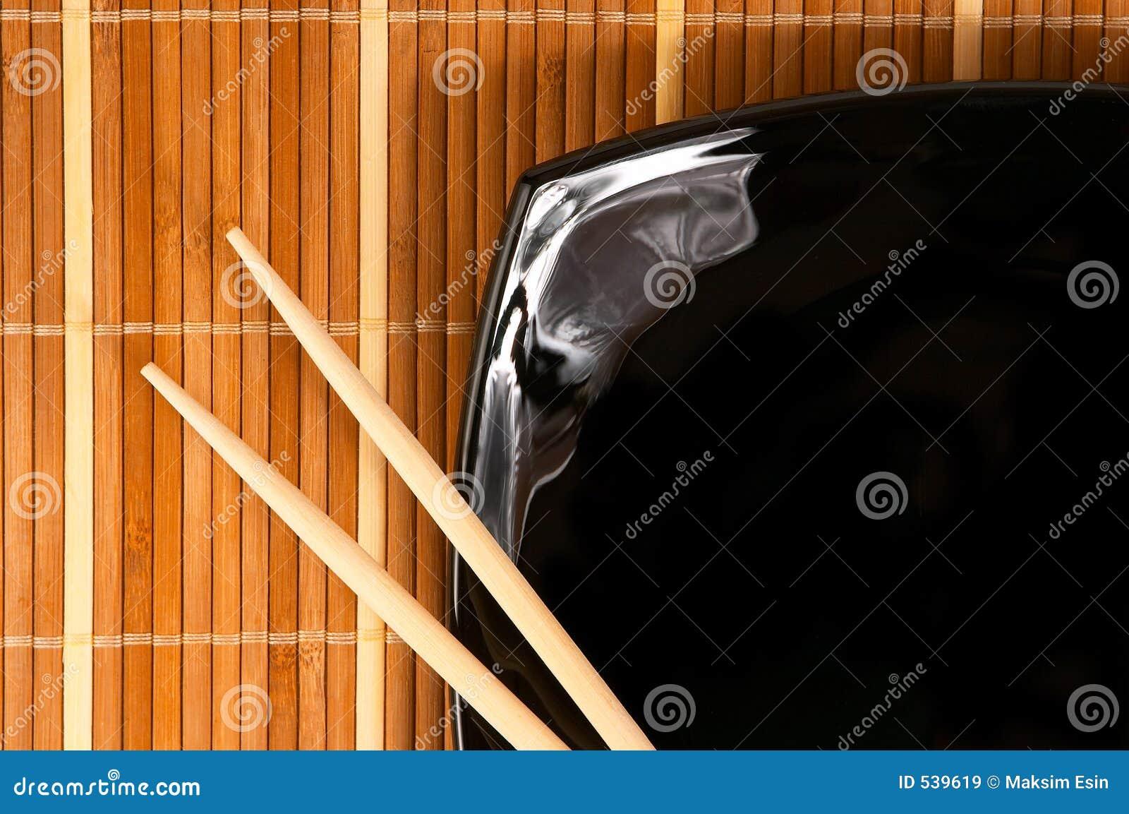 Placa com chopsticks