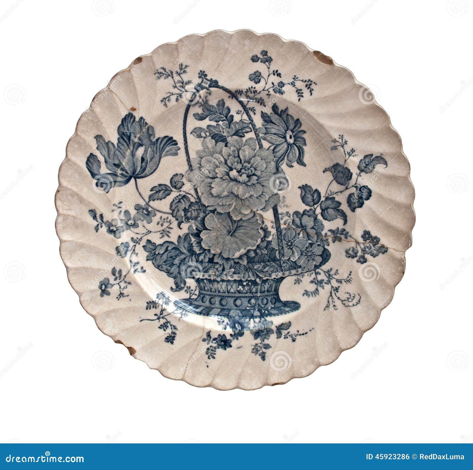 Placa da porcelana do vintage