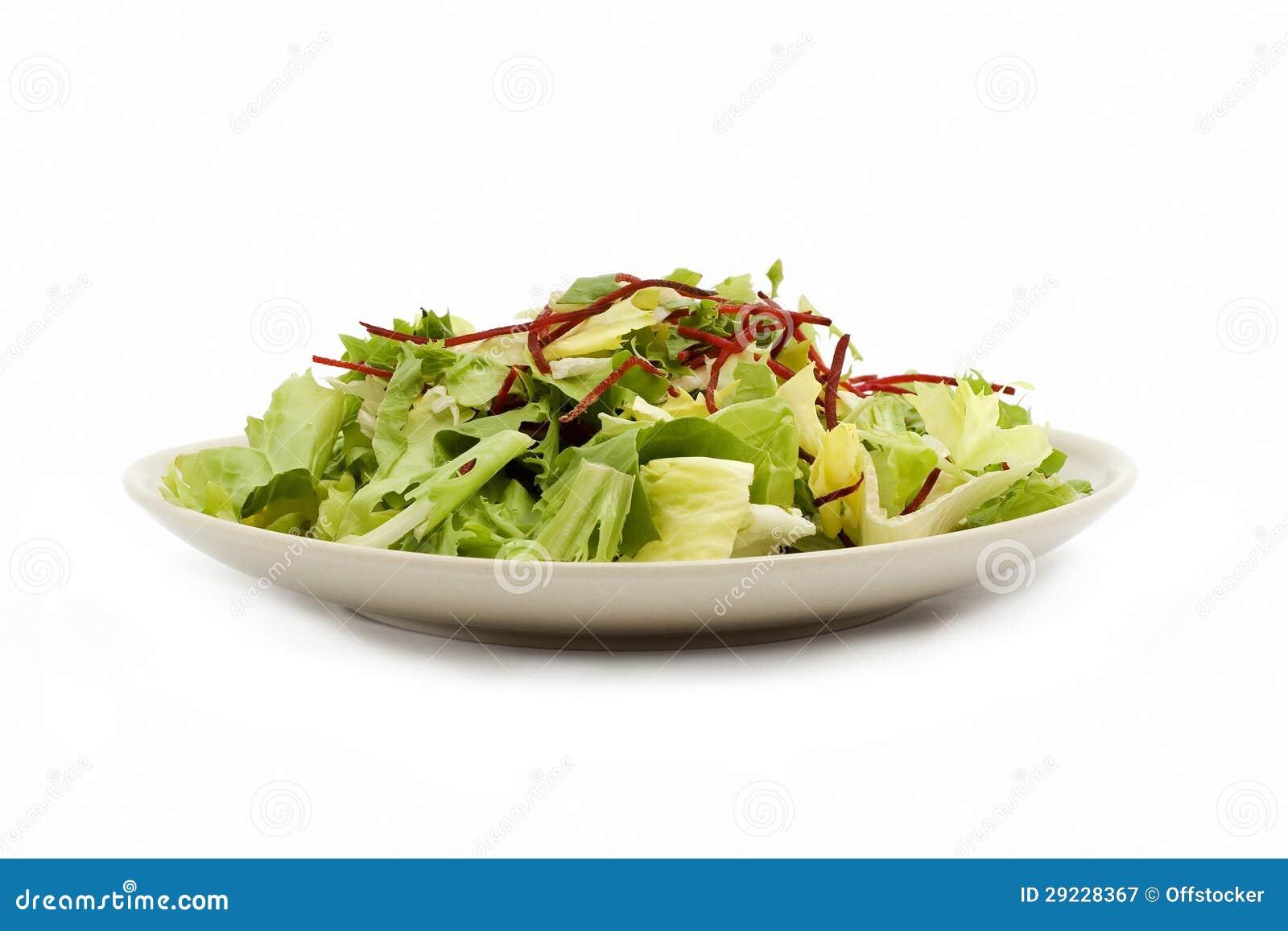 Download Placa da salada imagem de stock. Imagem de imagem, corte - 29228367