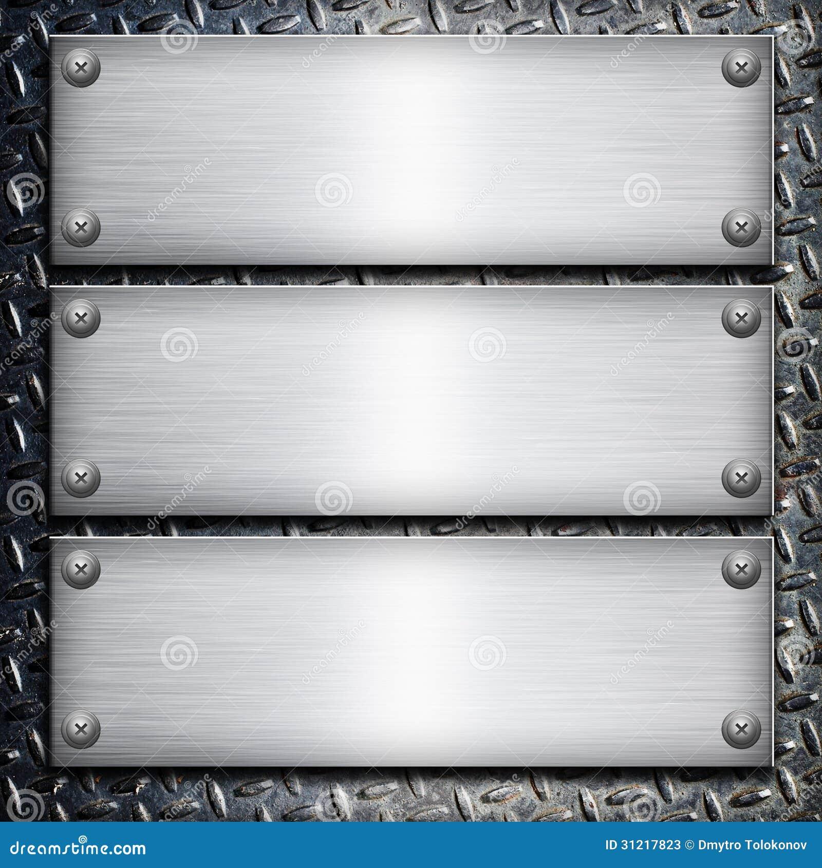 Placa de acero cepillada fotos de archivo imagen 31217823 for Placa de acero