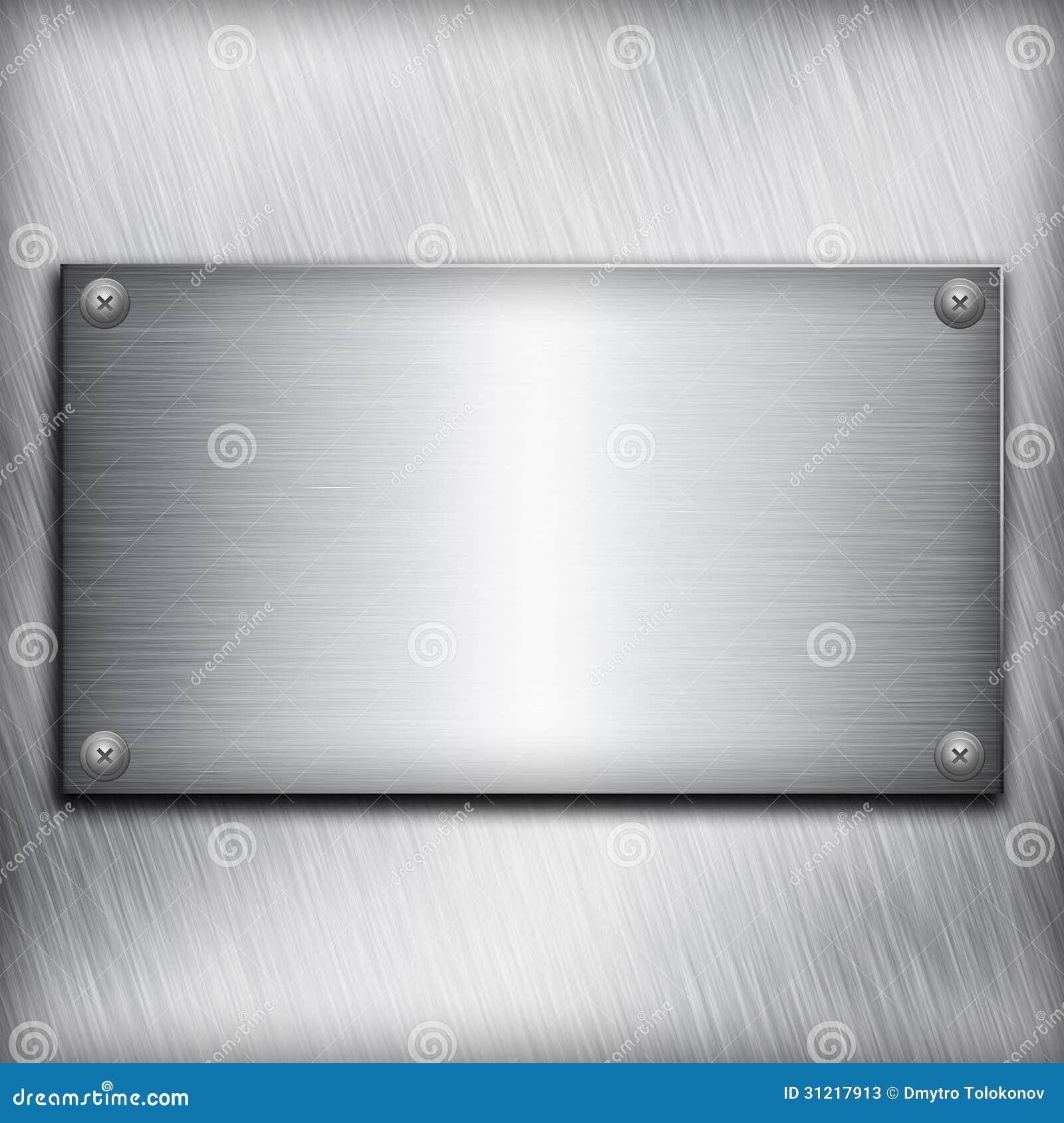 Placa de acero cepillada fotos de archivo imagen 31217913 - Placa de acero inoxidable ...
