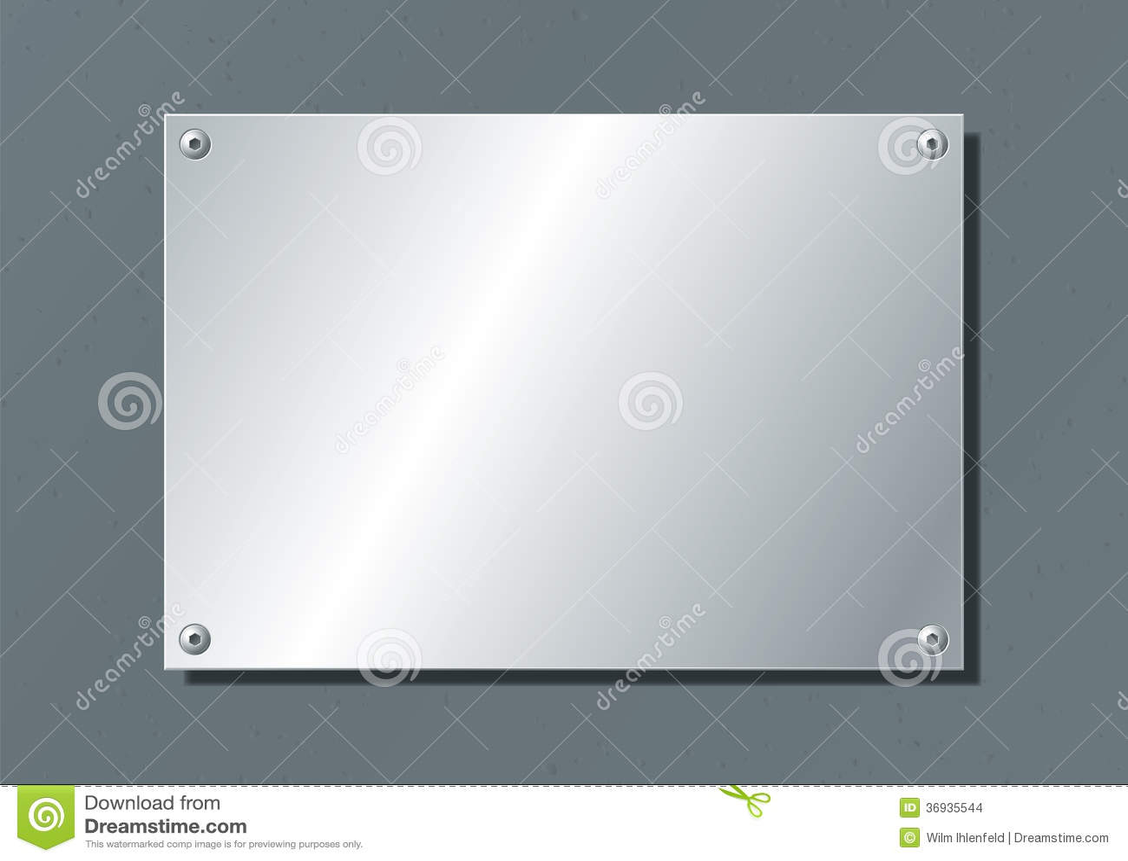Placa de aluminio ilustraci n del vector ilustraci n de - Placa de aluminio ...