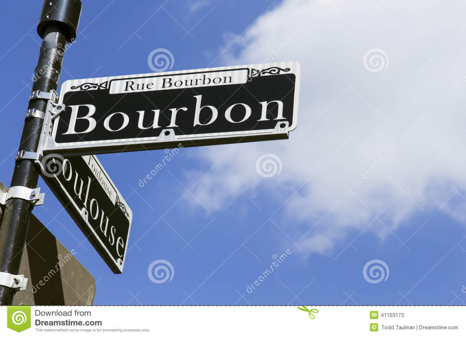 Placa de calle de Borbón en New Orleans