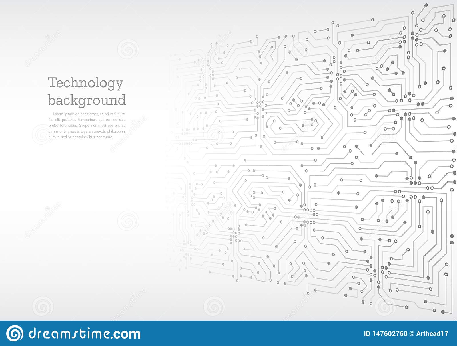Placa de circuito abstracta 3D Ilustraci?n futurista del vector