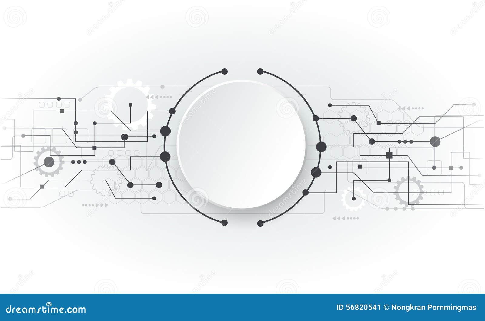 Placa De Circuito Branca Futurista Do Sumrio Da Ilustrao Vetor Circuit Board Background Royalty Free Stock Image 24974606