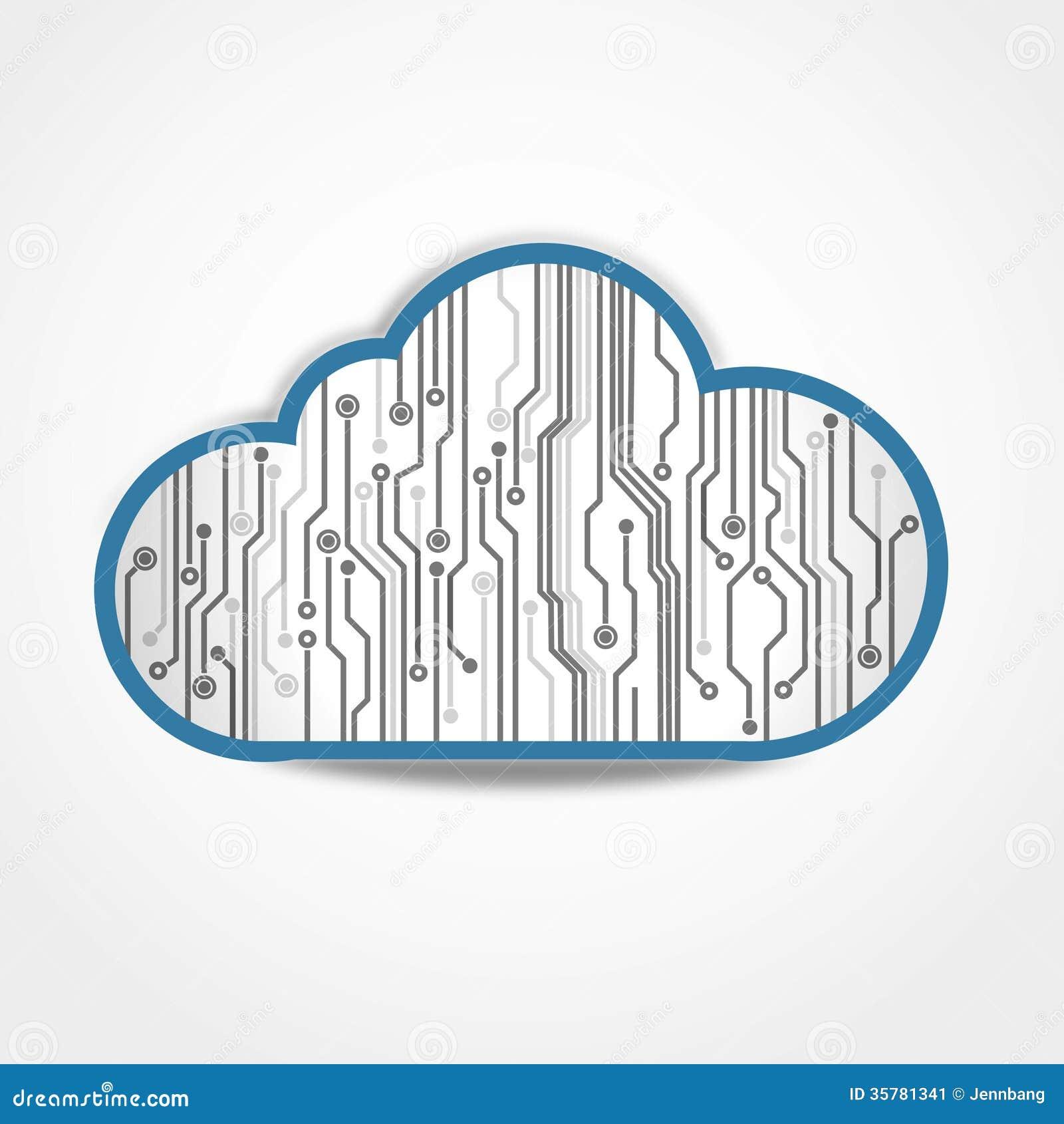 Placa de circuito da nuvem de Digitas
