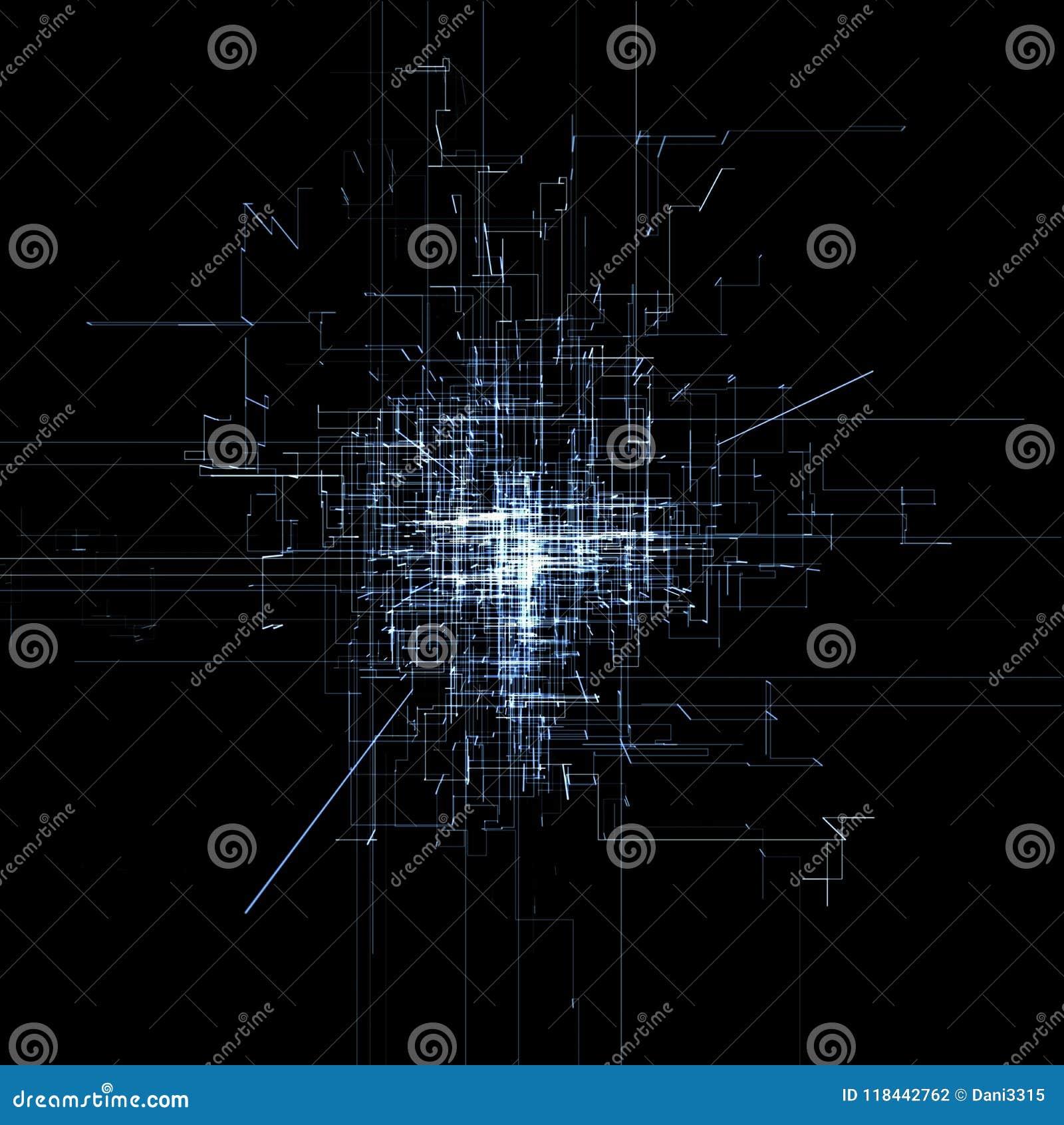 Circuito Eletronico : Placa de circuito eletrônico moderna condutores e sinais neurais