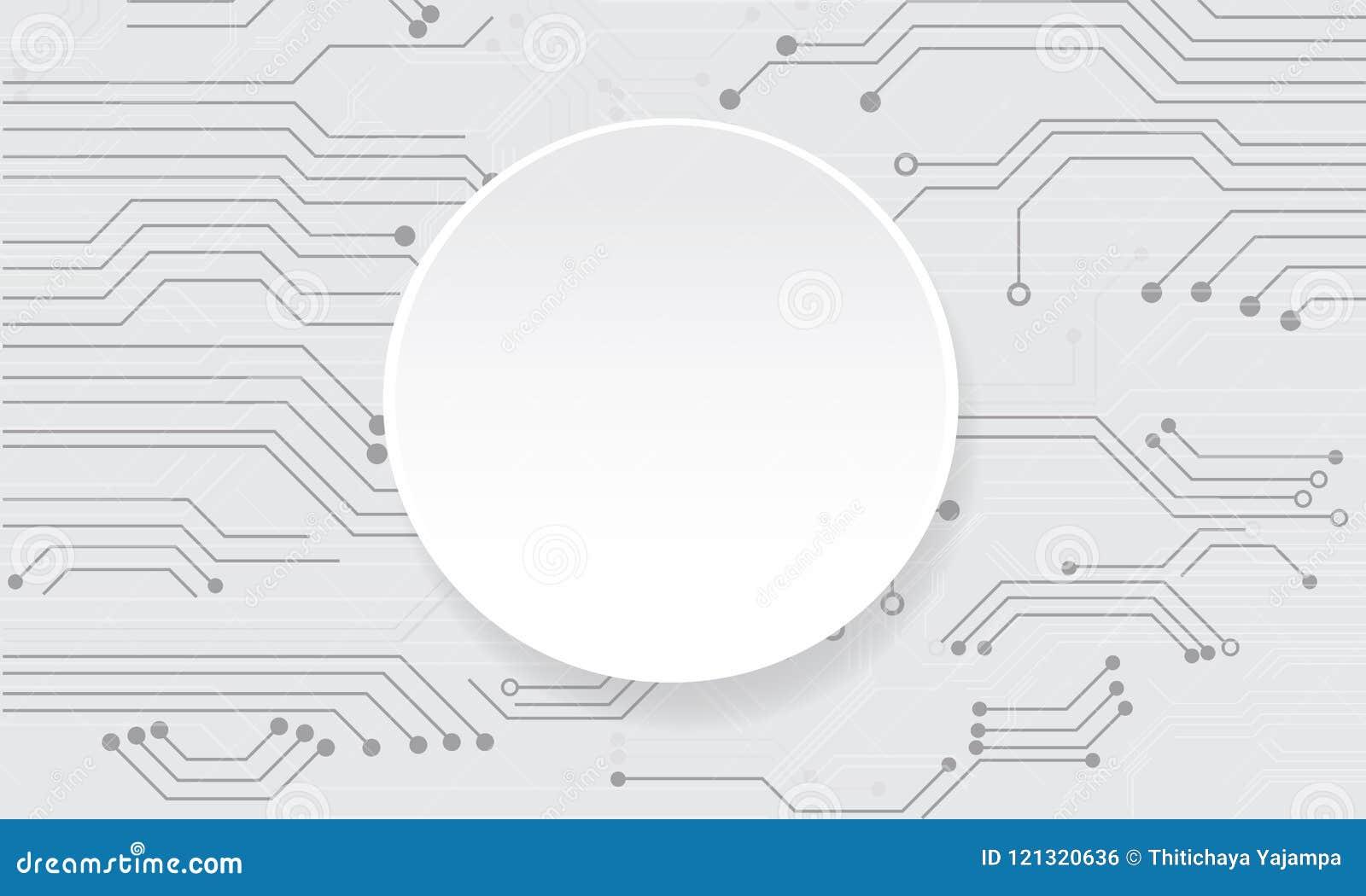 Placa de circuito futurista abstracta del vector en el fondo blanco