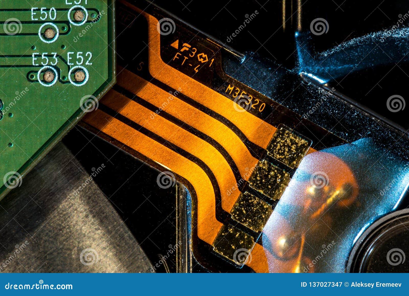 Placa de circuito Tecnologia de material informático eletrônica Microplaqueta digital do cartão-matriz Fundo da ciência da tecnol