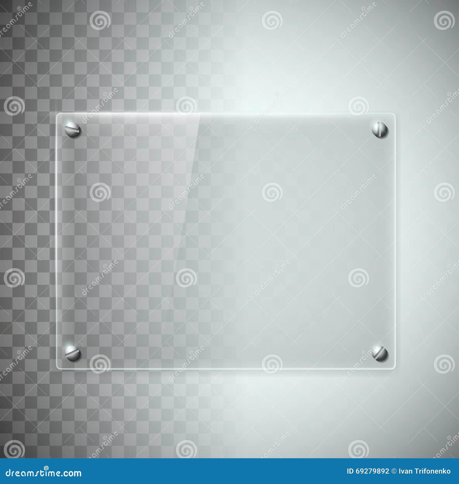 Placa de cristal transparente en blanco textura del material pl stico stock de ilustraci n - Vidrio plastico transparente precio ...