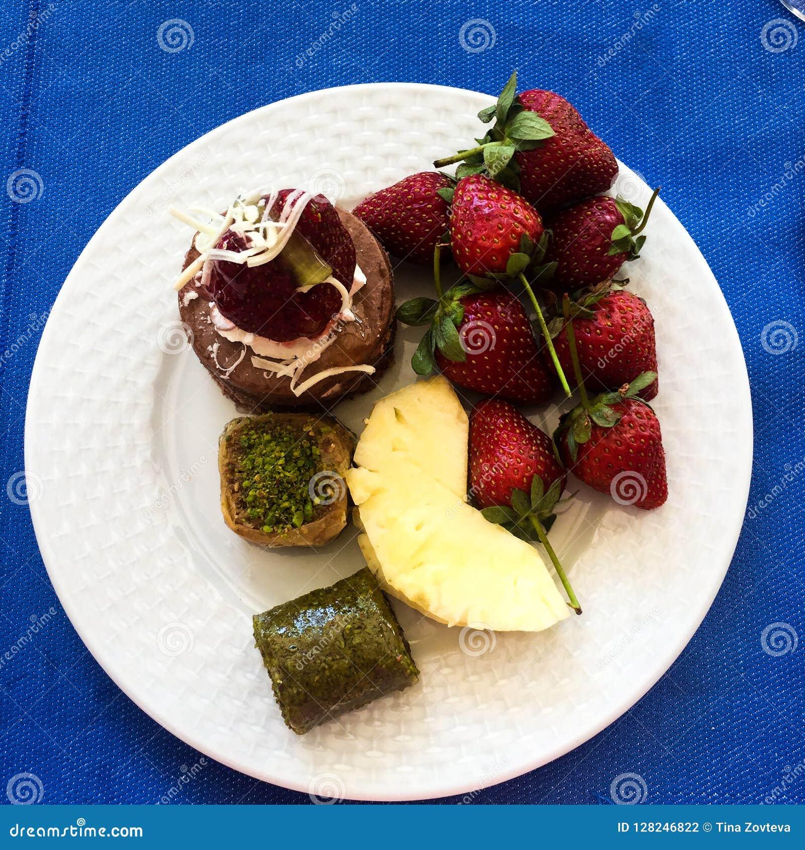 Placa de la fruta
