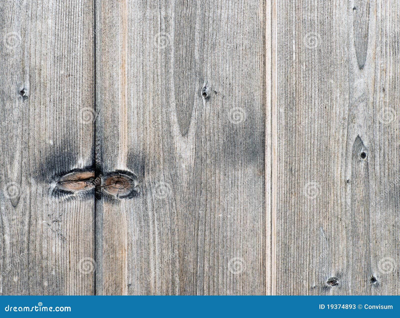 Placa de madeira cinzenta com Knotholes