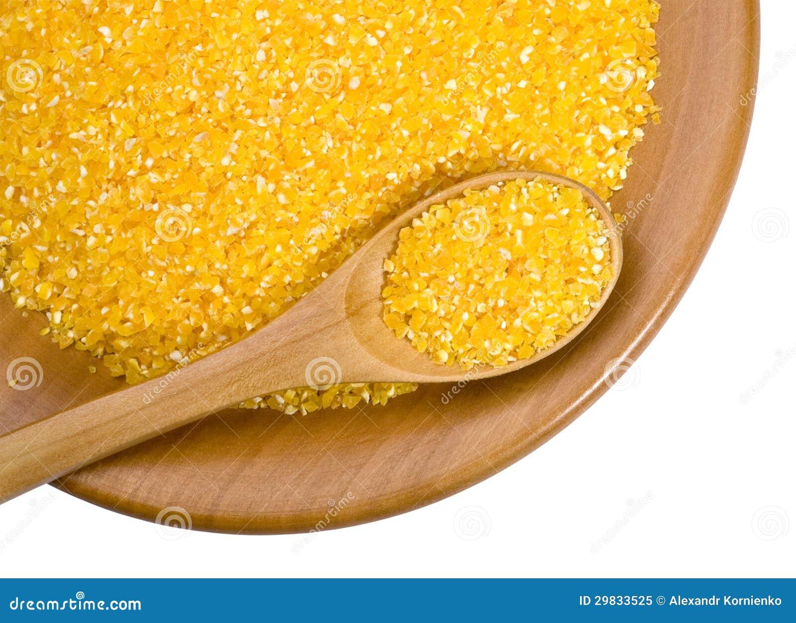 Placa de madeira com feijões e milho