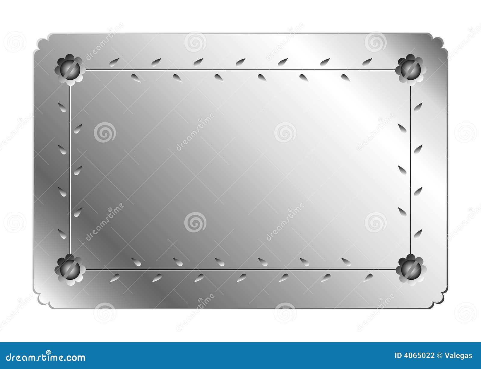 Placa de metal