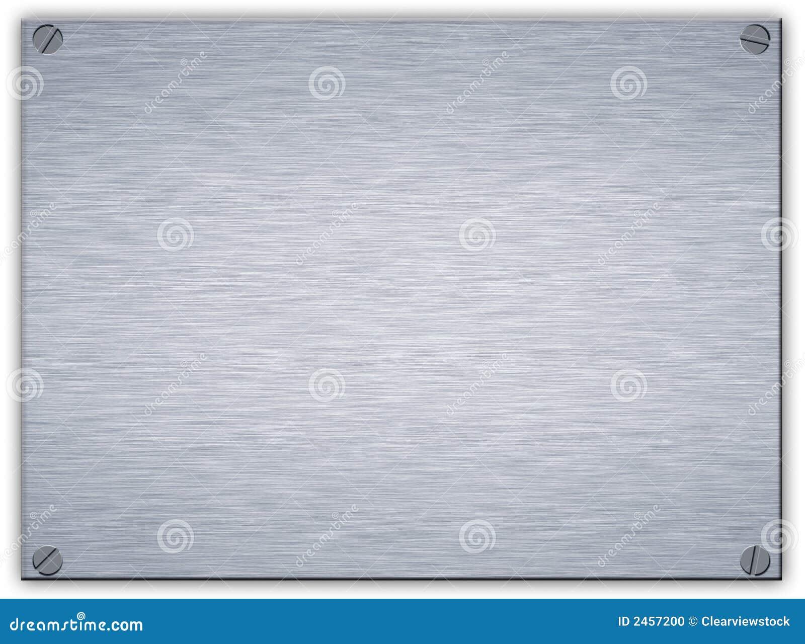 Placa de metal de acero aplicada con brocha foto de for Placa de acero