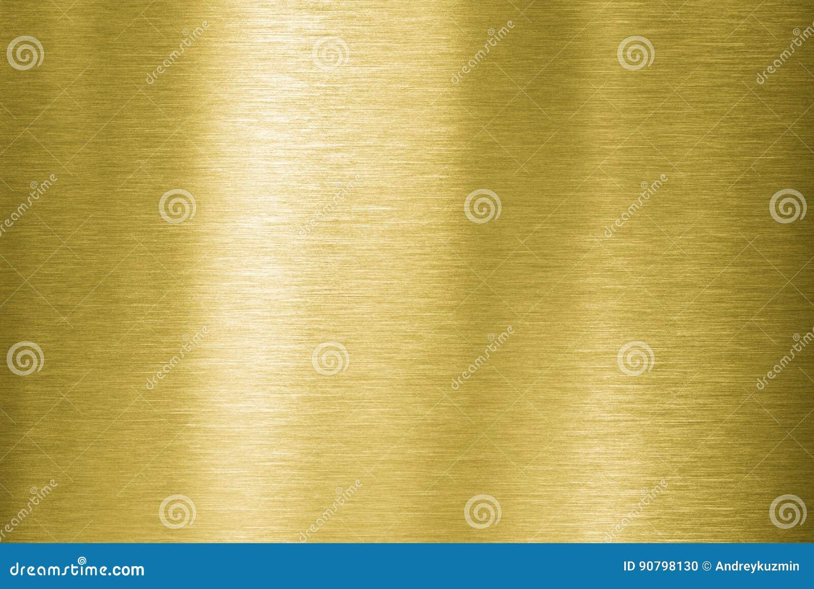 Placa de metal del oro