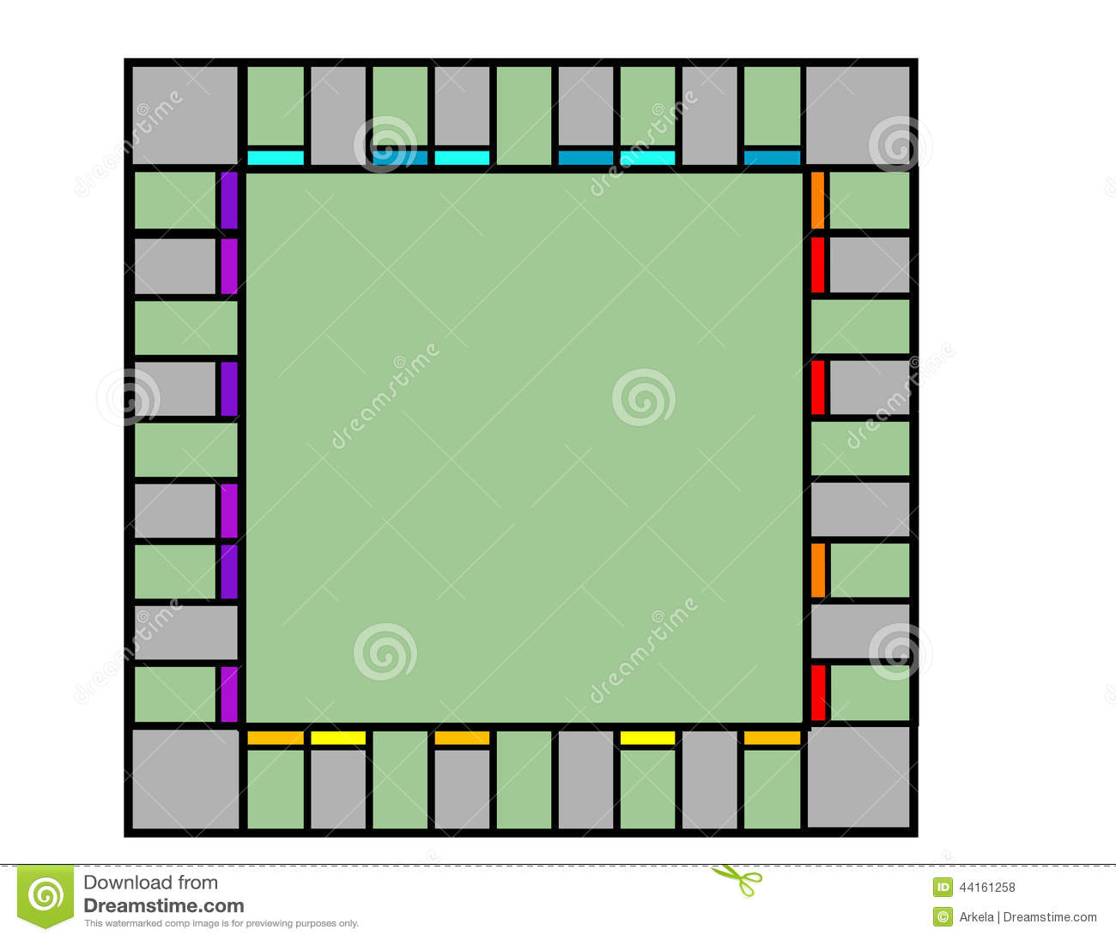 Placa de monopólio vazia