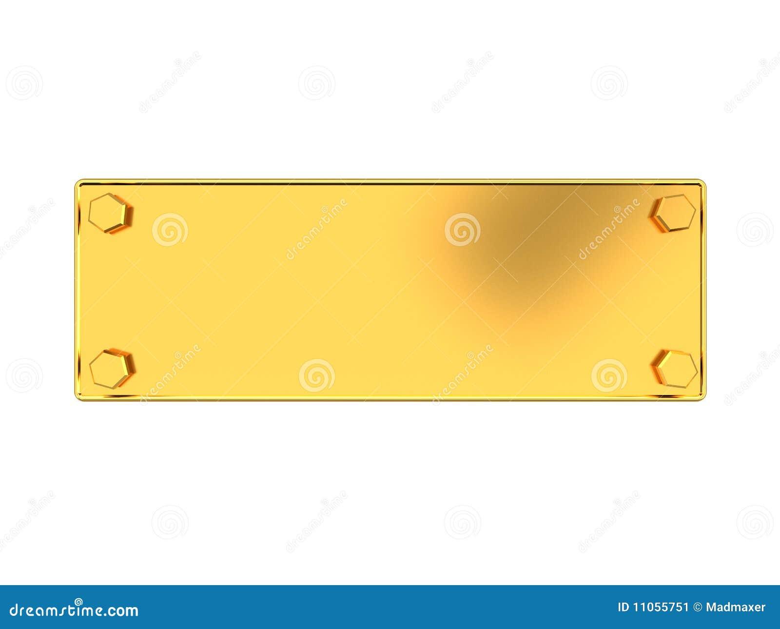 Placa de oro stock de ilustraci n ilustraci n de remache for Placas para pared
