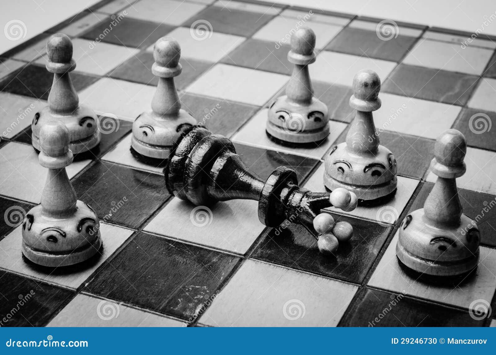 Download Placa de xadrez ilustração stock. Ilustração de inimigo - 29246730