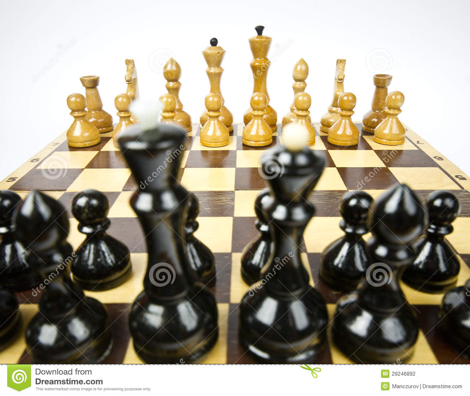 Download Placa de xadrez ilustração stock. Ilustração de inimigo - 29246892