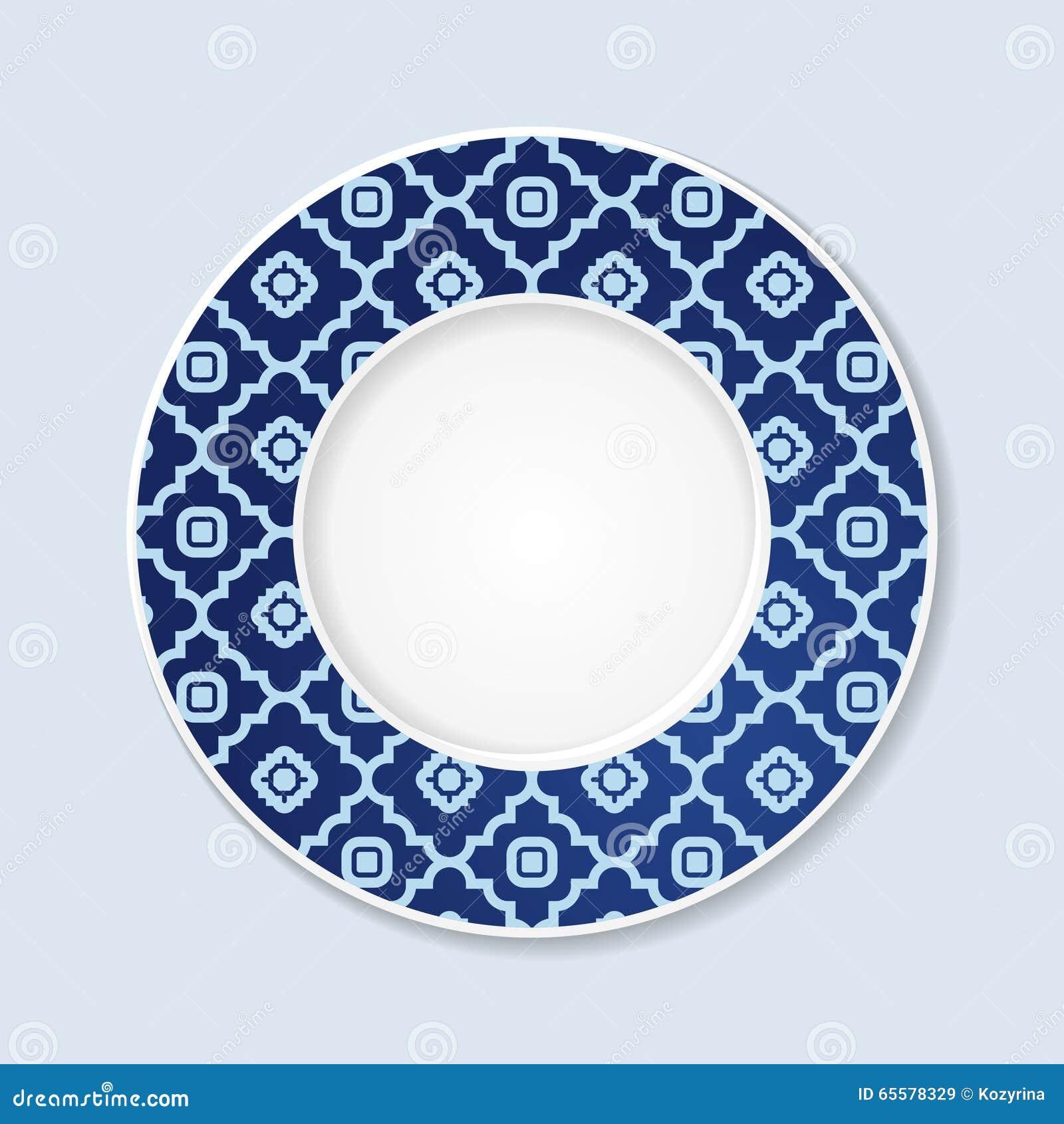 Placa decorativa com ornamento abstrato