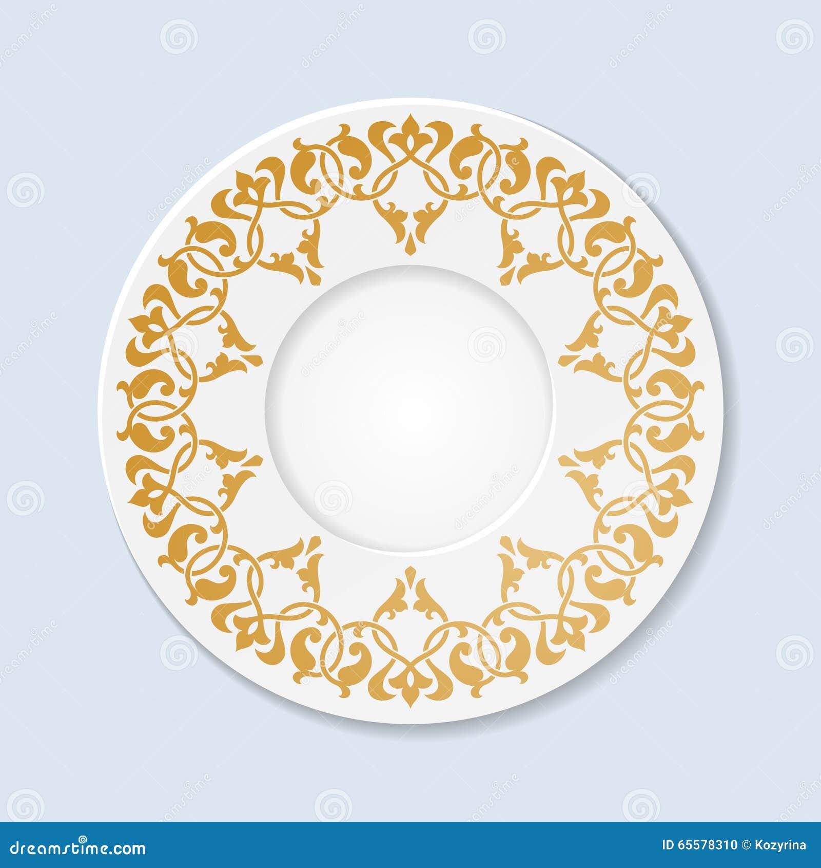 Placa decorativa com ornamento floral