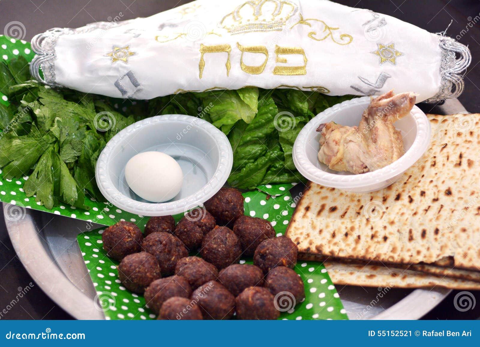 Placa del seder de la pascua judía - días de fiesta judíos