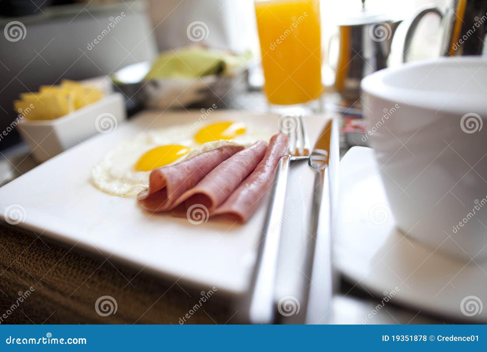 Placa do pequeno almoço