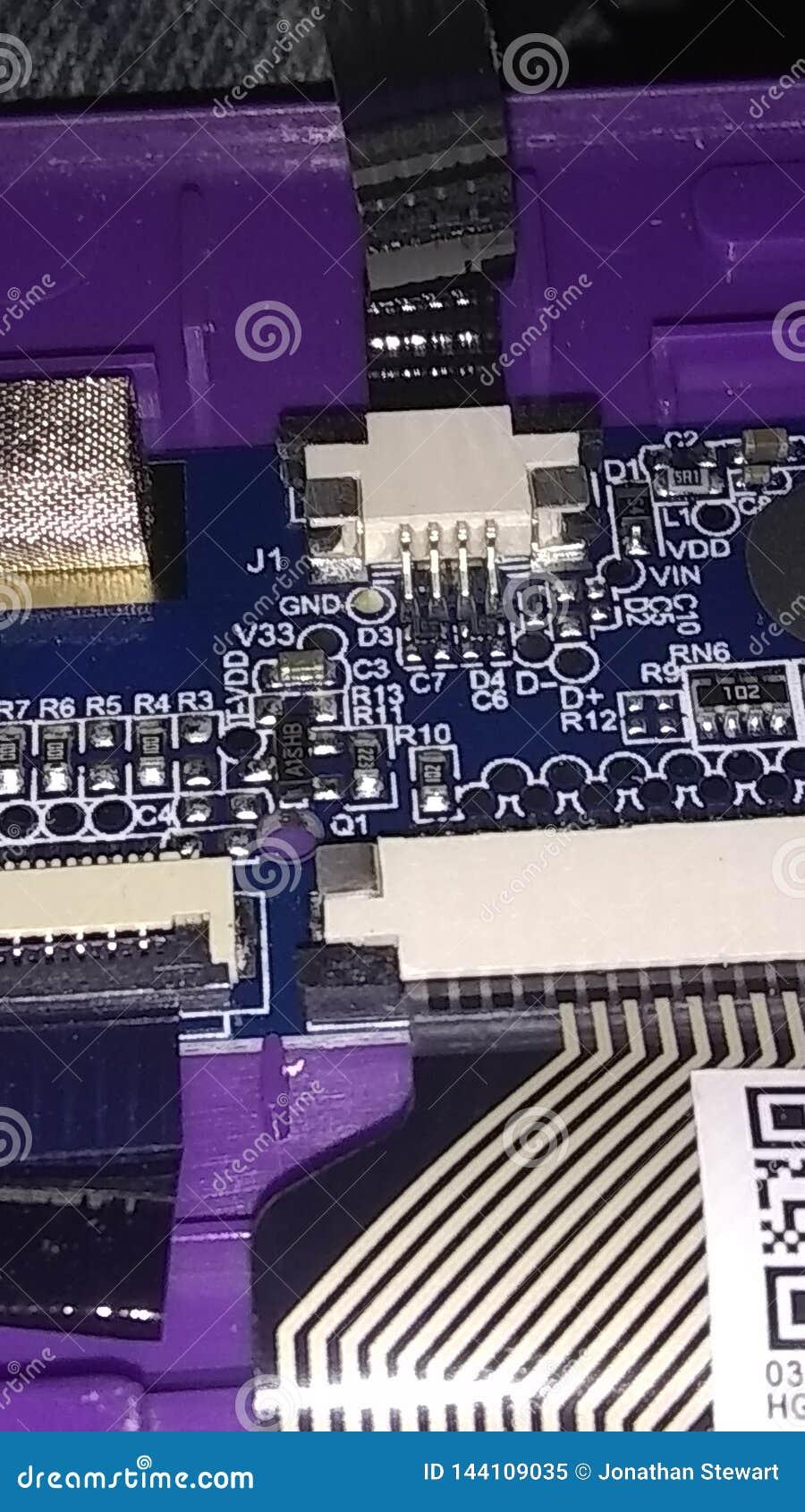 Placa e componentes de circuito