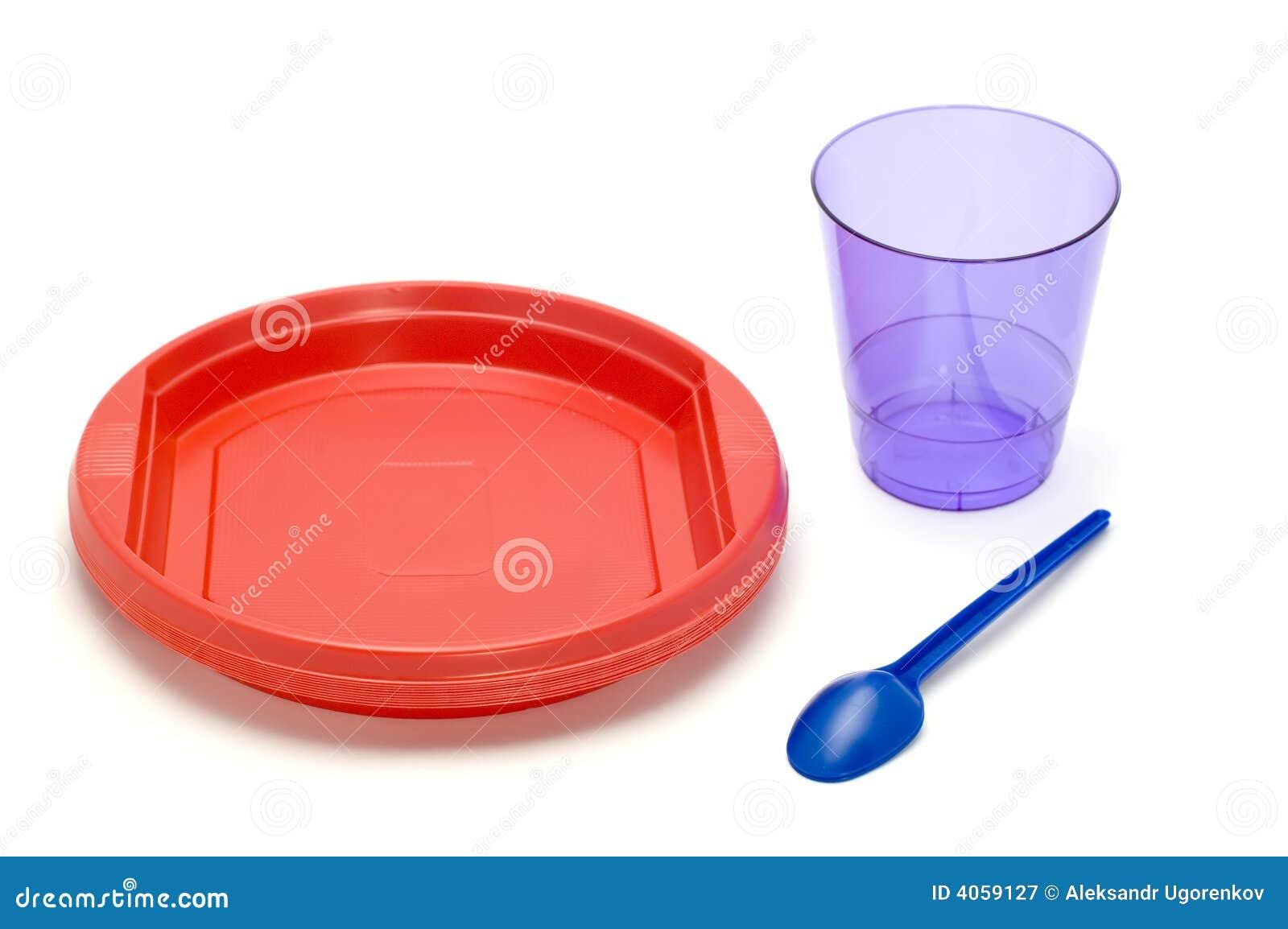 Placa e copo plásticos