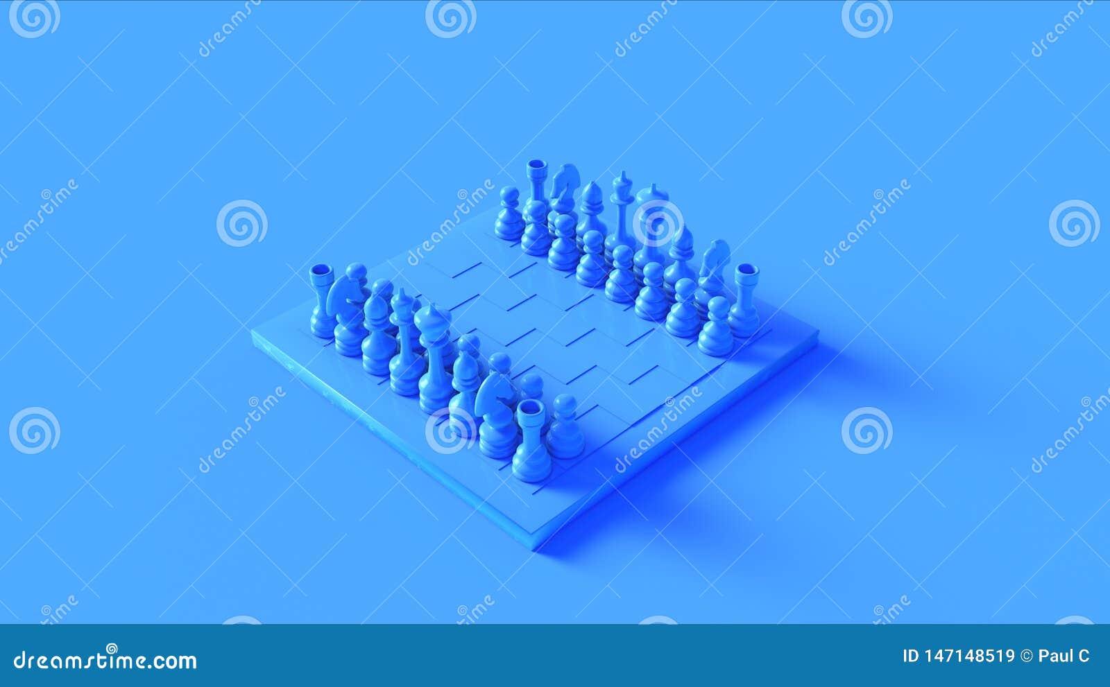 Placa e partes azuis de xadrez de BillboardBlue