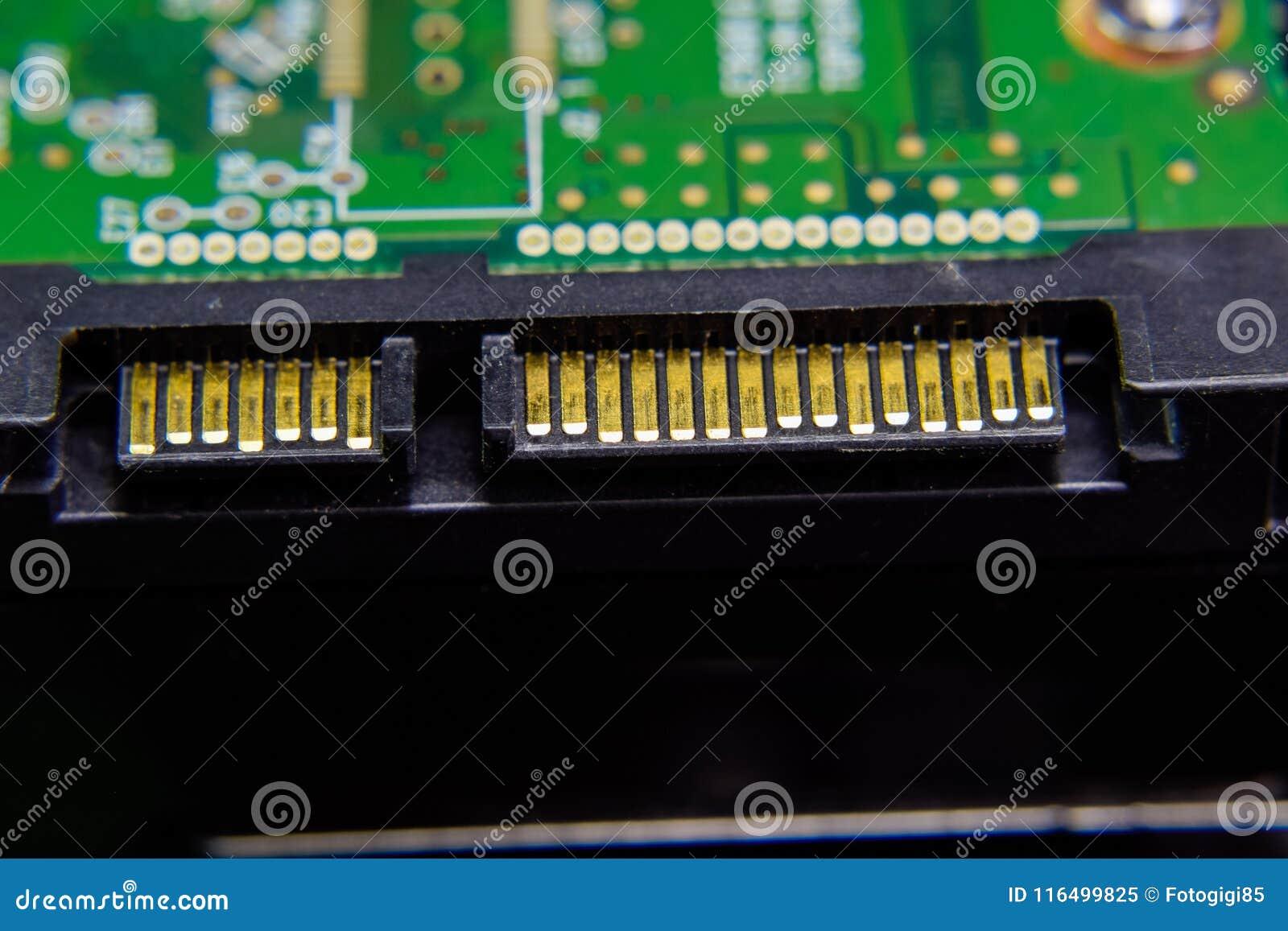 Placa eletrônica do conector do disco rígido de Sata com componentes bondes Eletrônica do material informático
