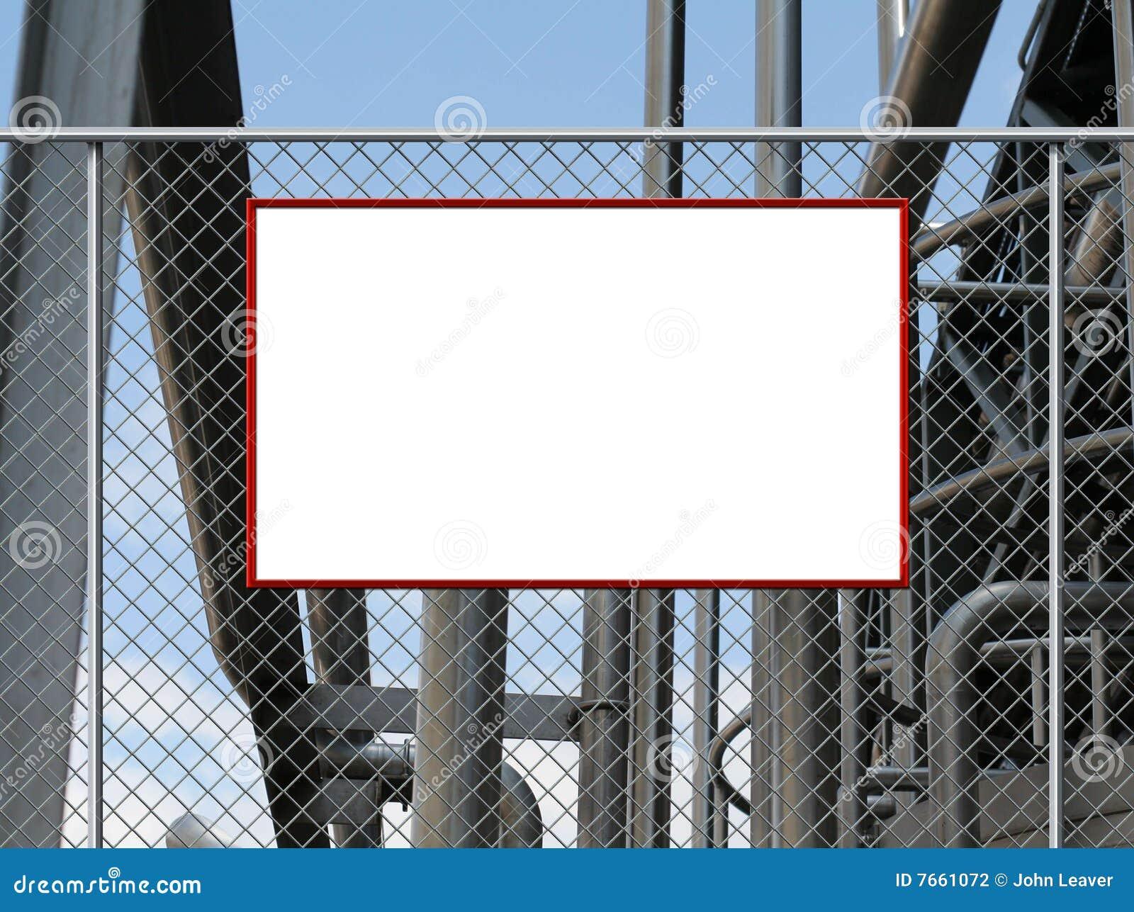 Placa em branco do sinal
