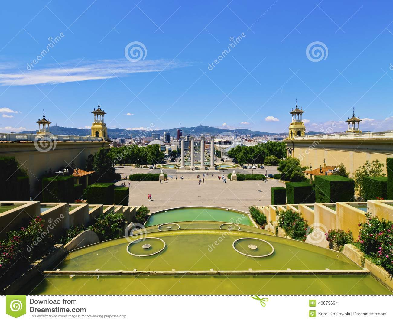 Download Placa Espanya in Barcelona stock photo. Image of city - 40073664