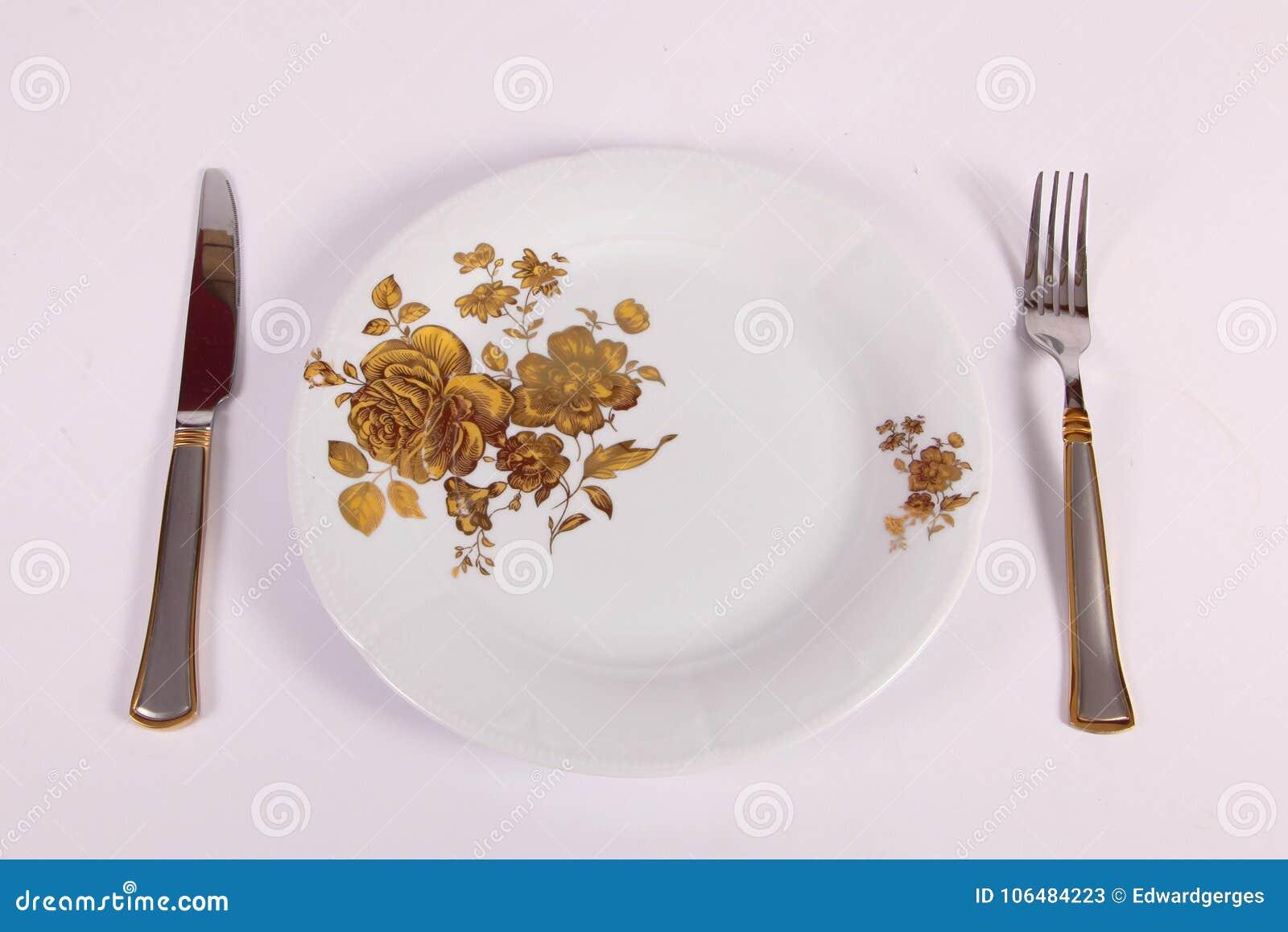Placa, fork y cuchillo