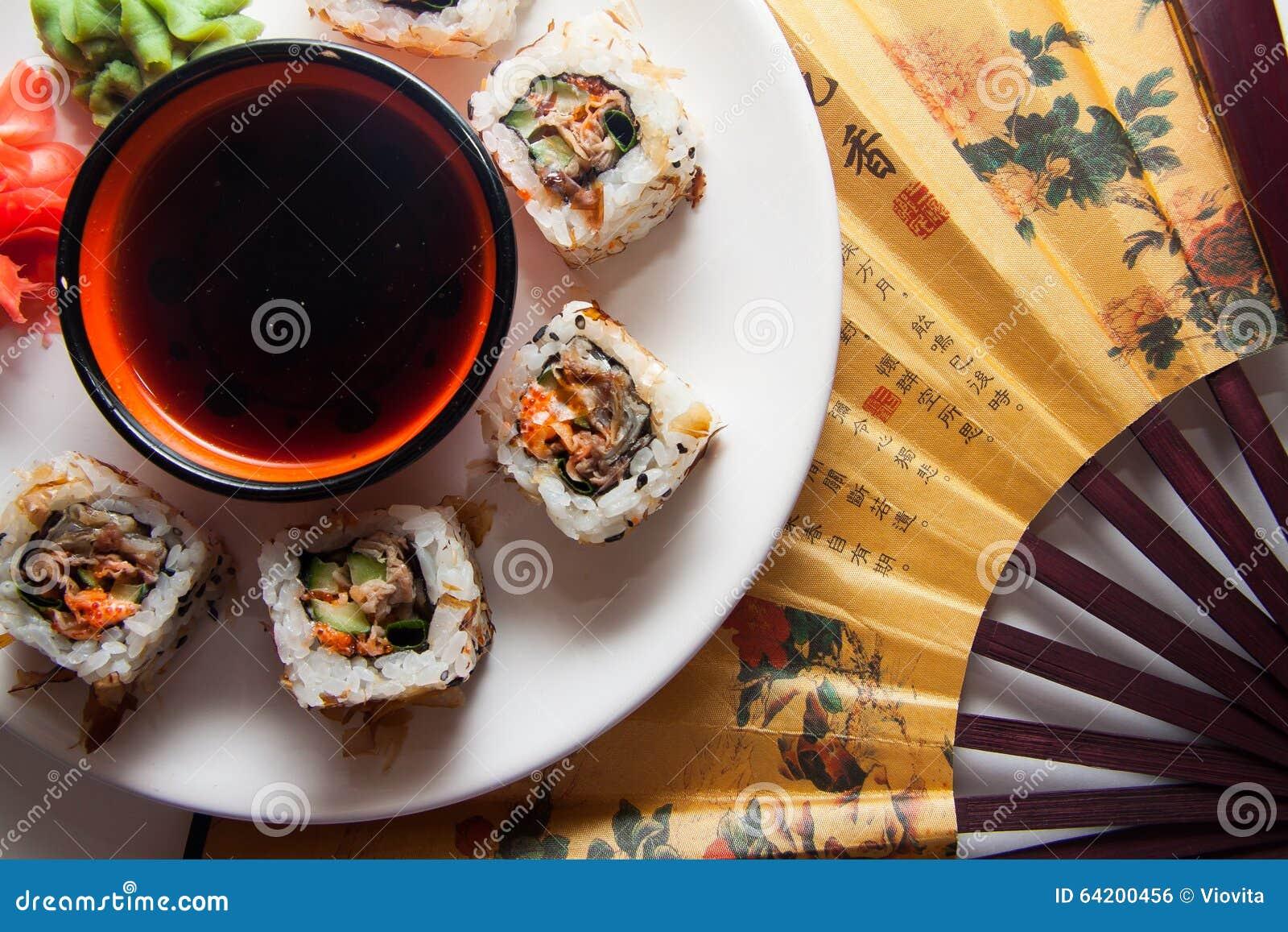 Placa grande de rollos japoneses
