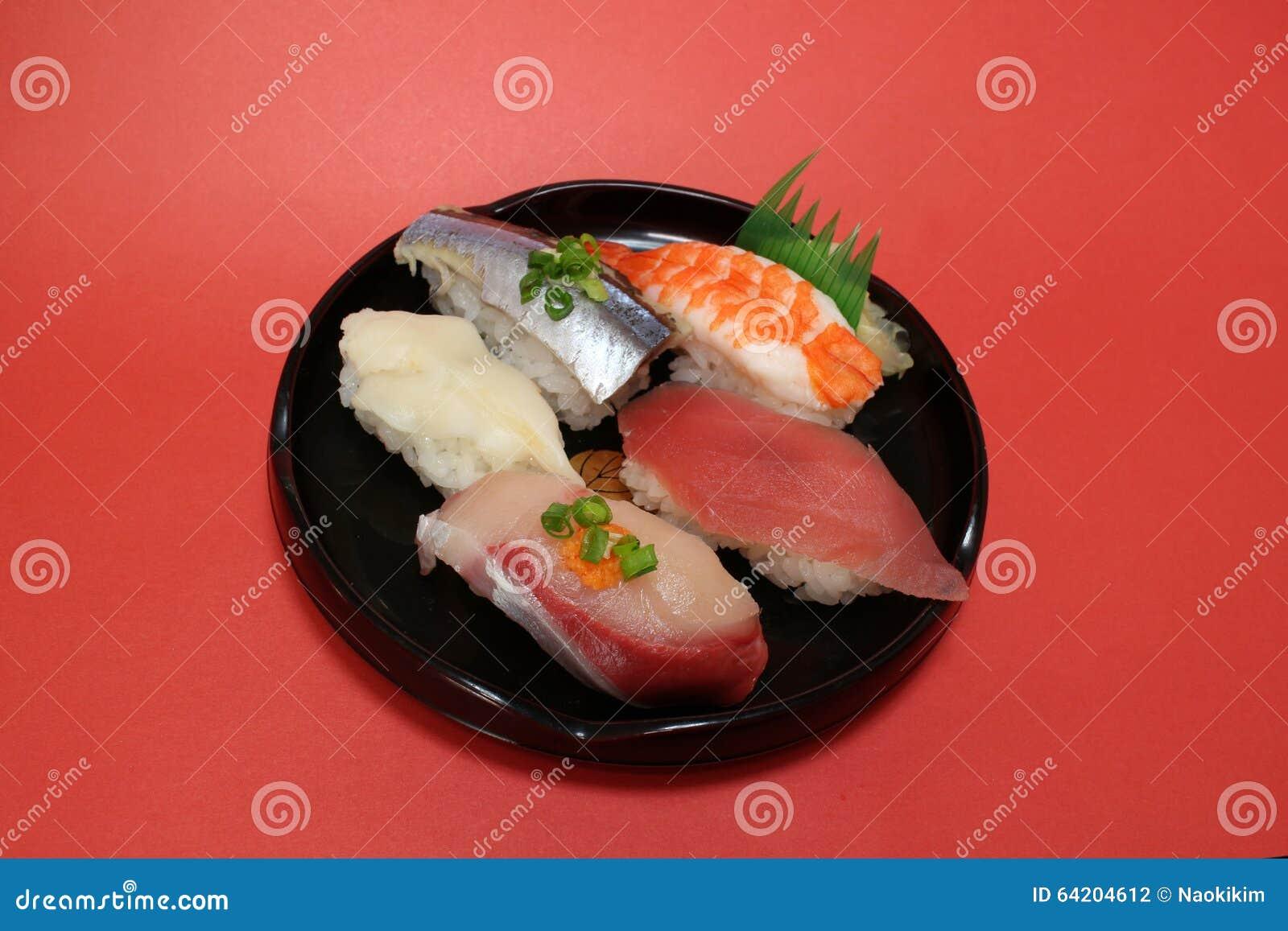 Placa japonesa del sushi en el humor #2 de la celebración