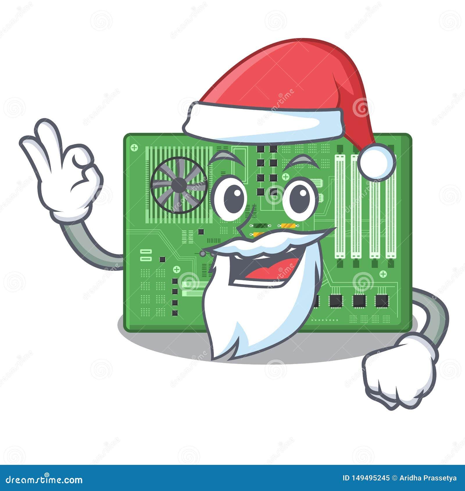 Placa madre del juguete de Papá Noel en un bolso de la mascota