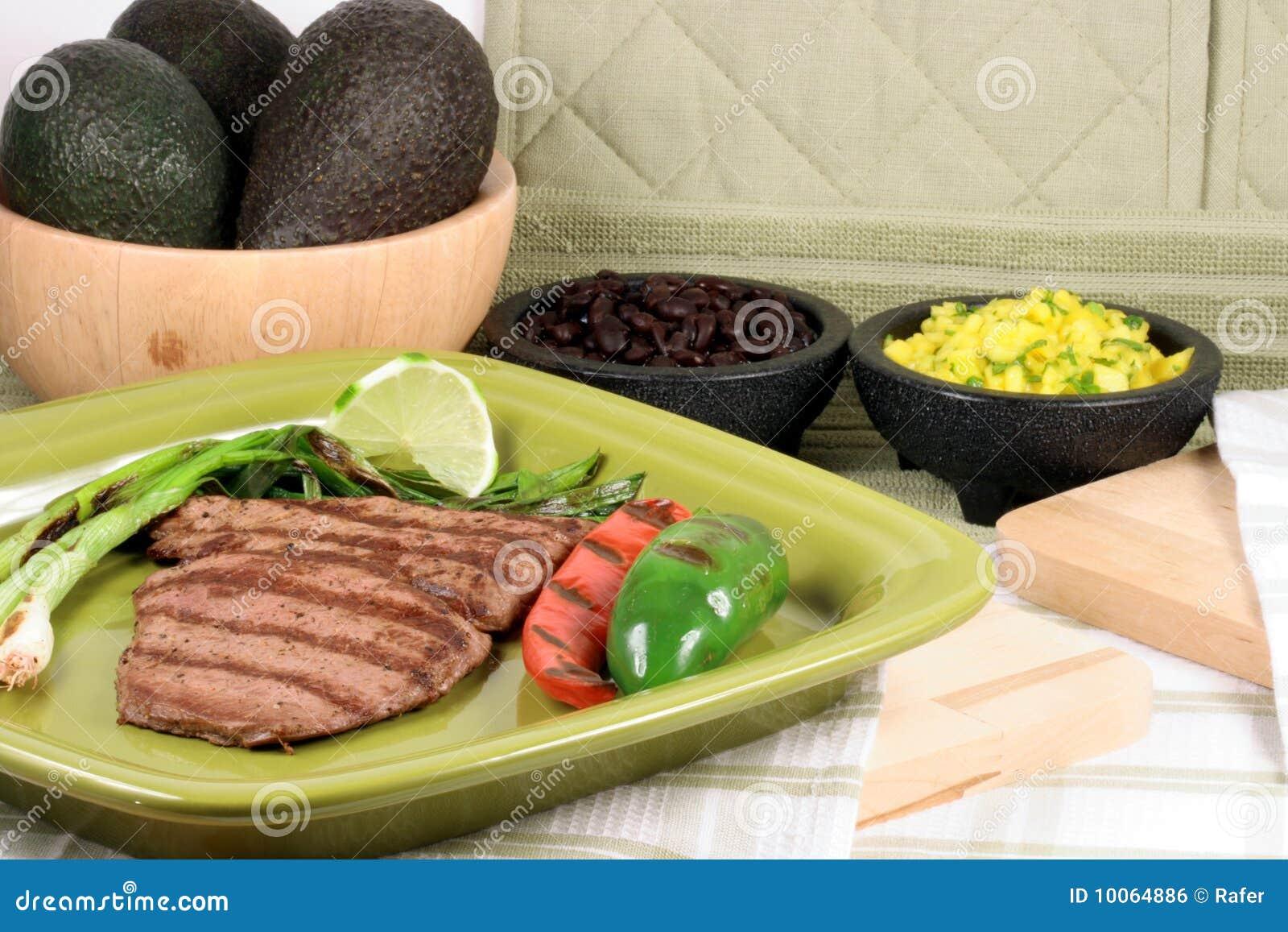 Placa mexicana do asada do carne