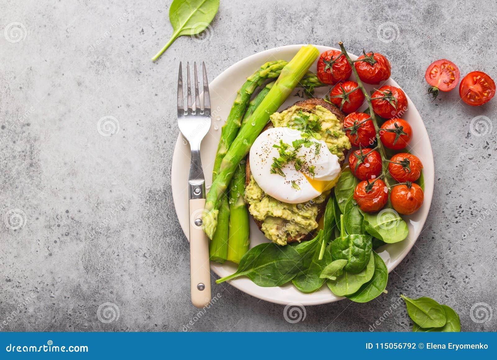 Placa saudável da refeição do vegetariano