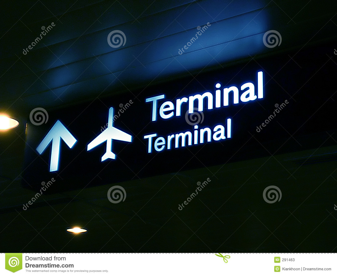 Placa terminal do sinal