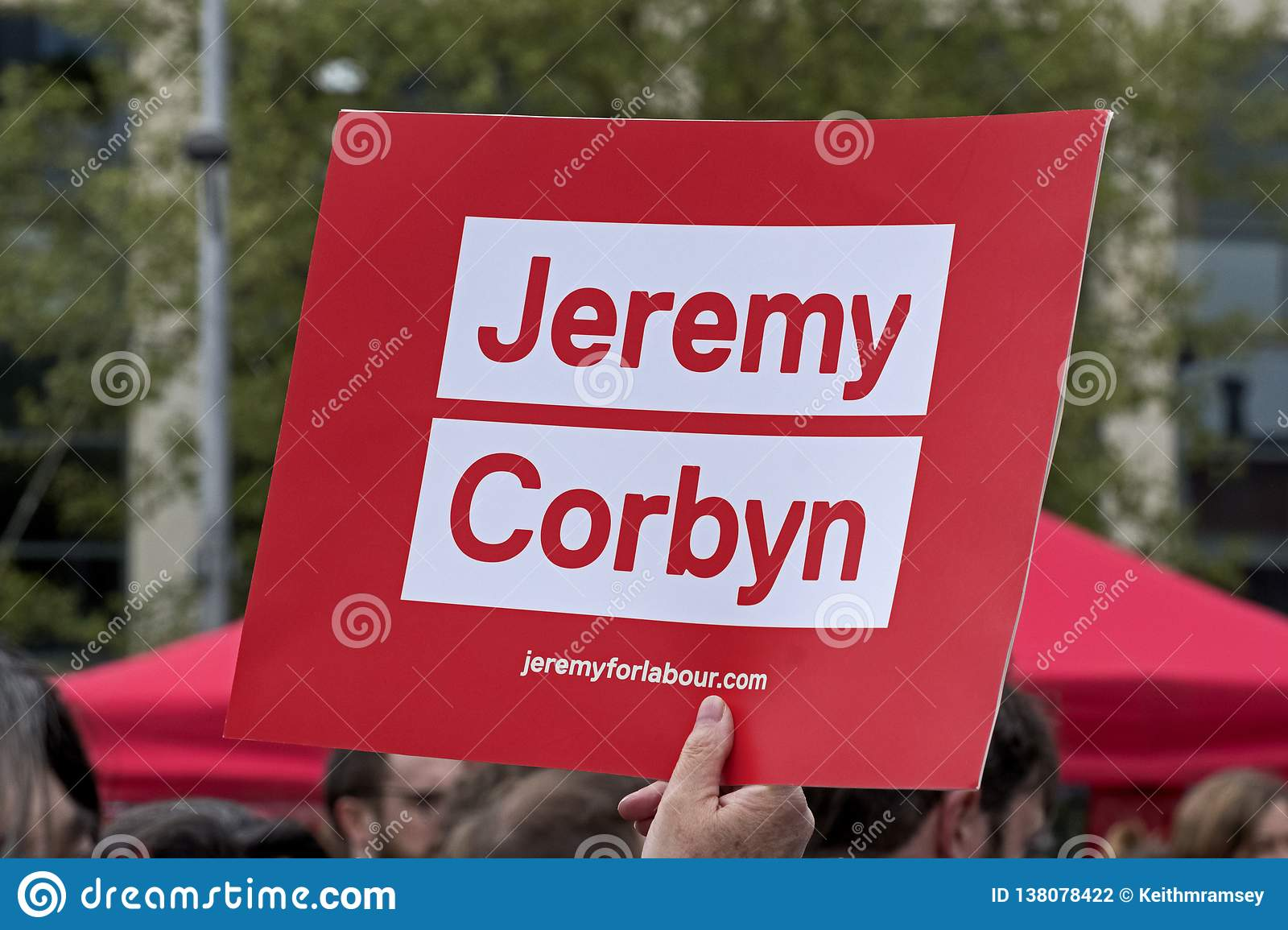 A Placard Supporting Labour Party Leader Jeremy Corbyn