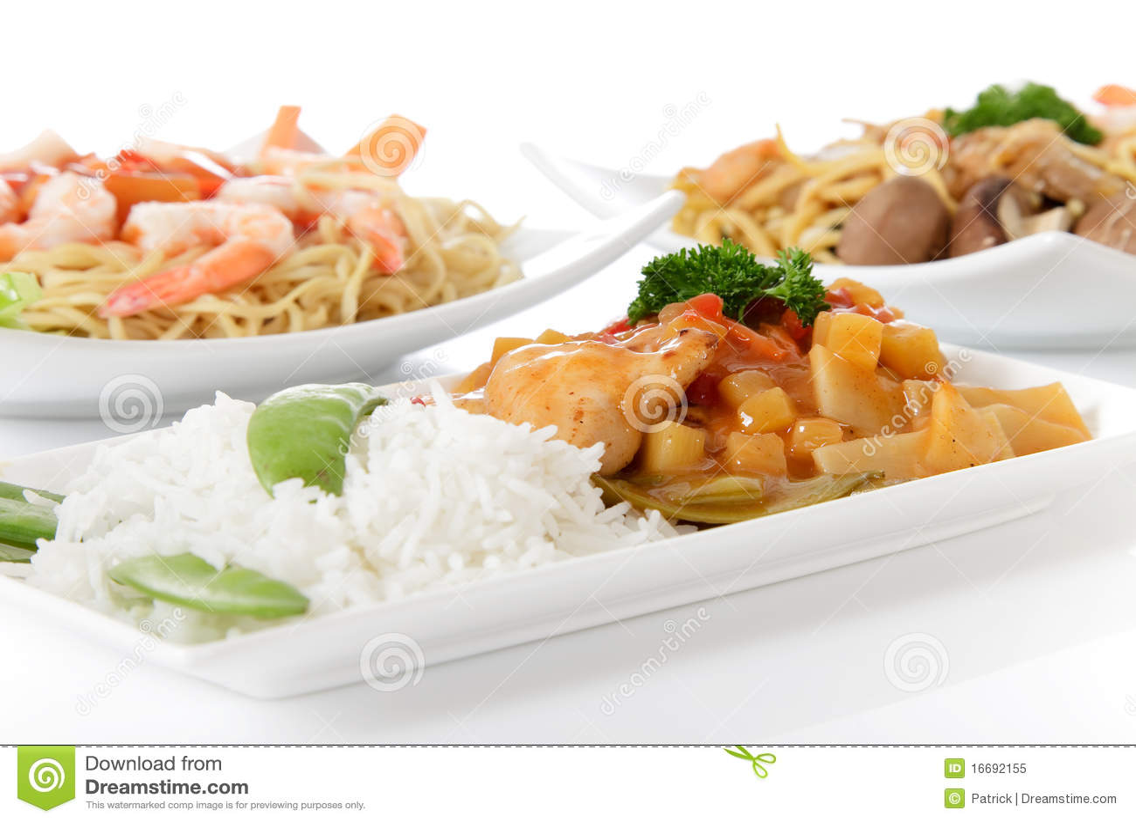Placas con las comidas orientales foto de archivo libre de - Comodas orientales ...
