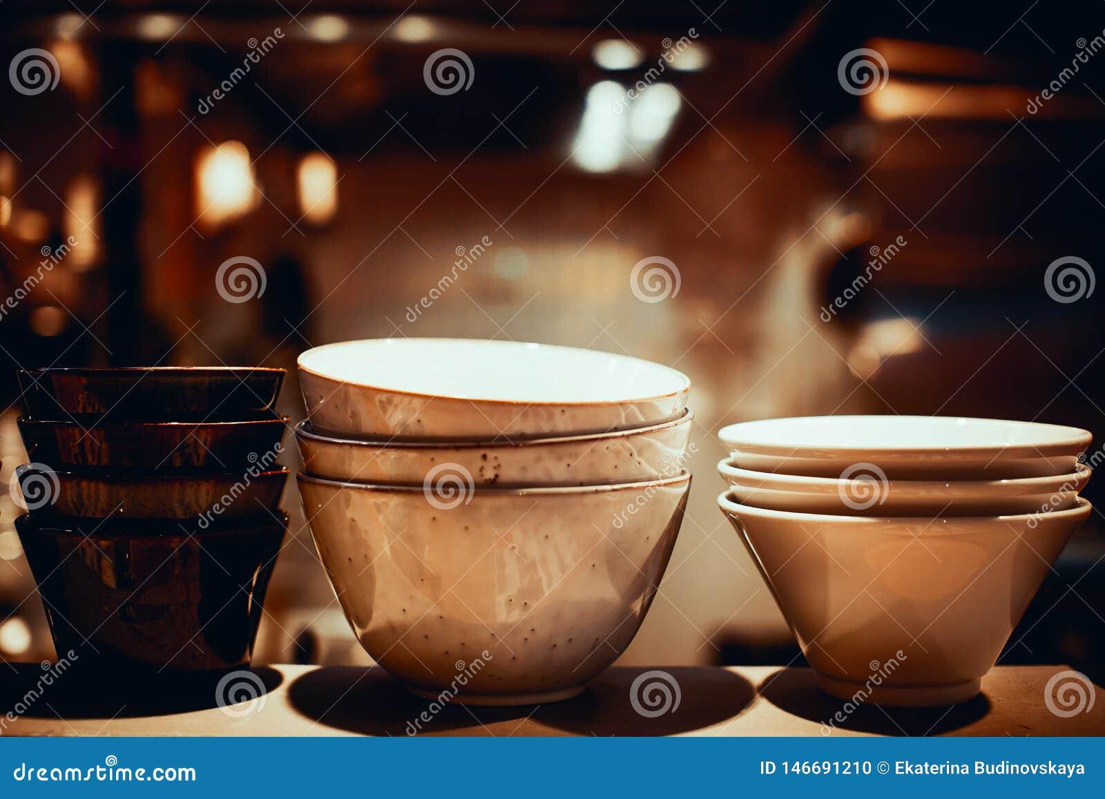 Placas de sopa vacías